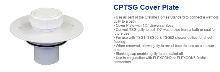 Contour CPTSG cover plate. 08GT-CP