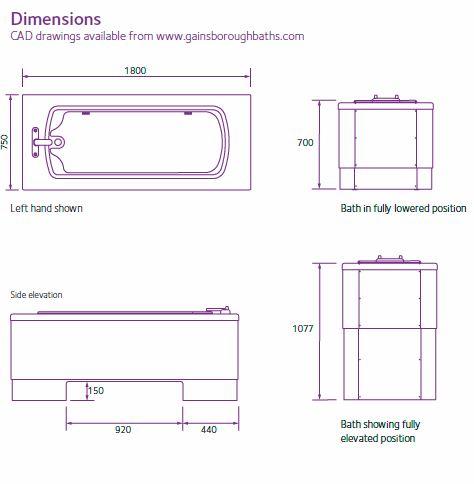 Gainsborough Lincoln Bath Dimensions