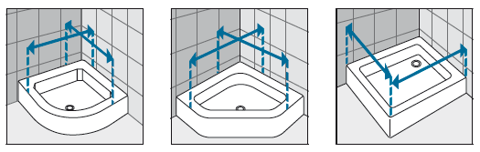 Measurements Diagram for shower cubicles 1