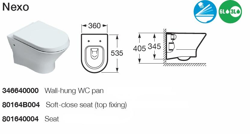 Roca Nexo Wall Hung Pan Details