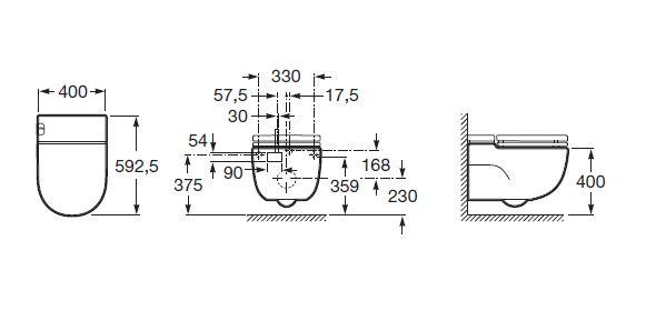 Roca Meridian In Tank Wc Toilet Pan Wall Hung 893301000 893302000
