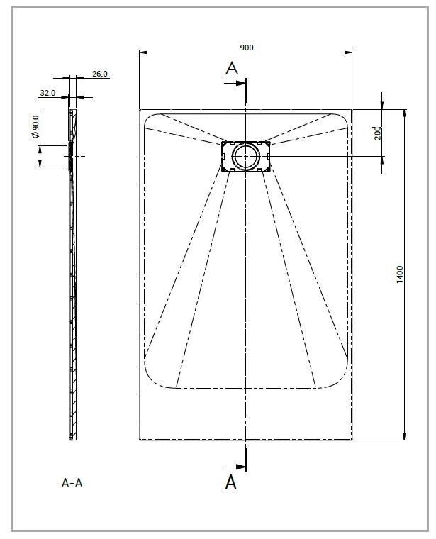 Technical drawing ONYX TRAY