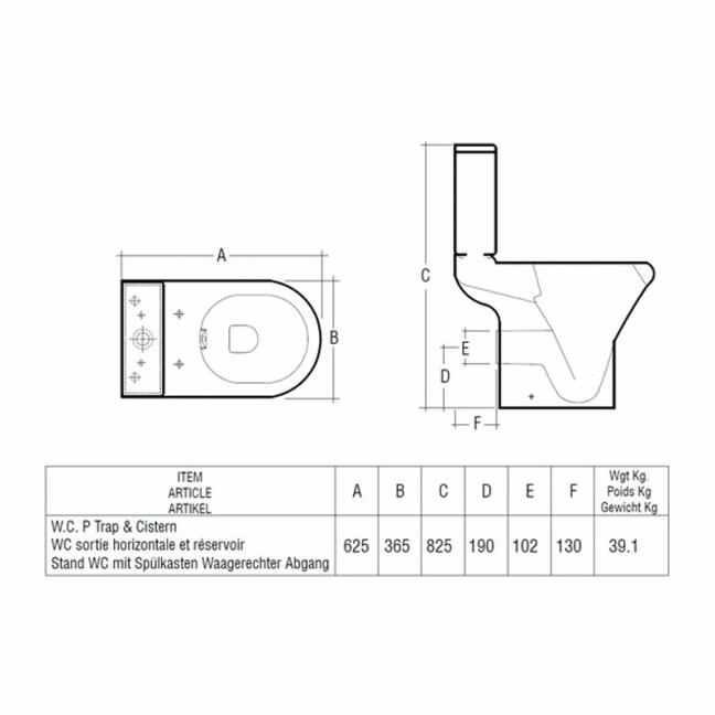 RAK Compact COMRIM45PAK-FA/NS