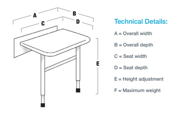 N and C Evolve Seat Dimensions