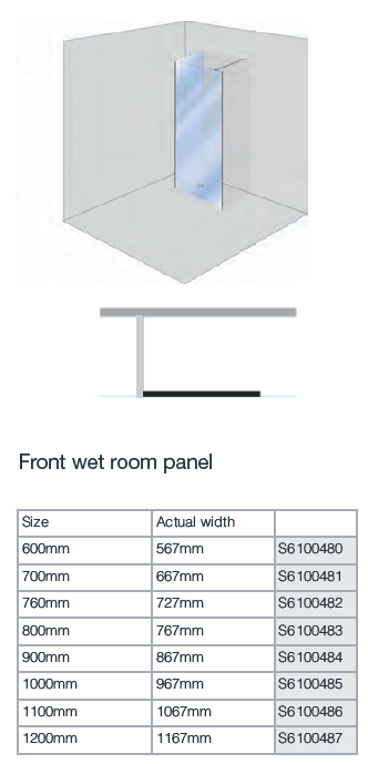 First Class Enhance Front Wet room Panel
