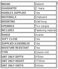 Technical Details Table