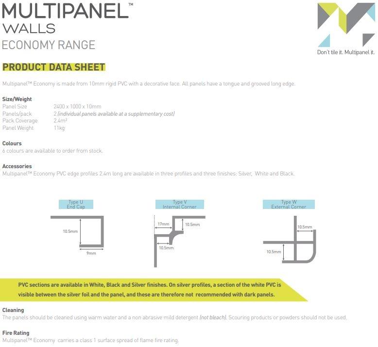 Multipanel Economy panels Data Sheet