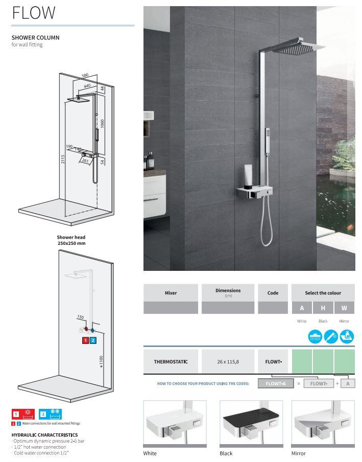 Novellini Flow Shower Column
