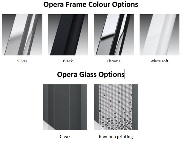 Novellini Opera Frame and Glass Option