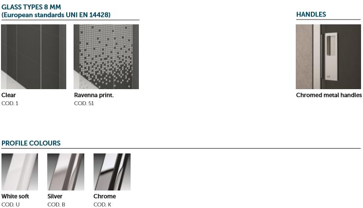 Novellini Glass and Profile Options