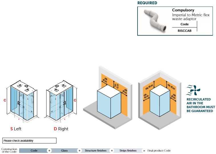 Novellini Skill Dual Cubicle Spec 2.