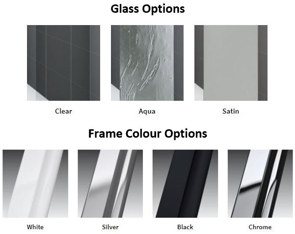 Novellini Young Glass and Frame Styles options