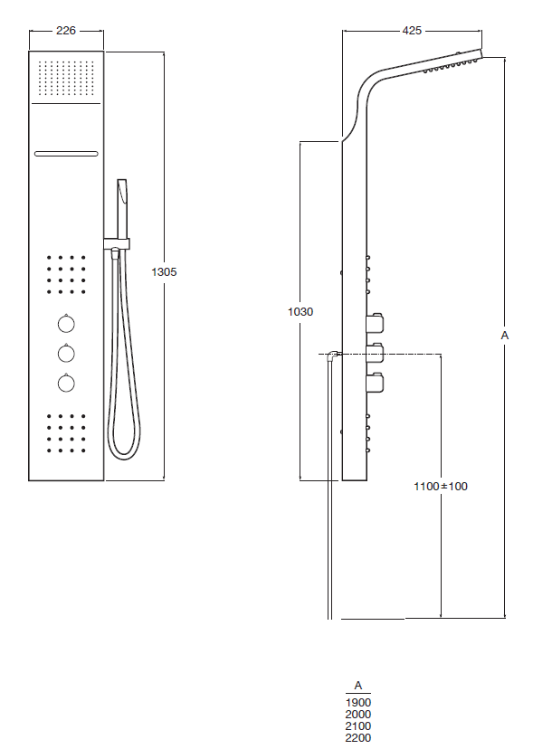 Evolution Thermostatic Column