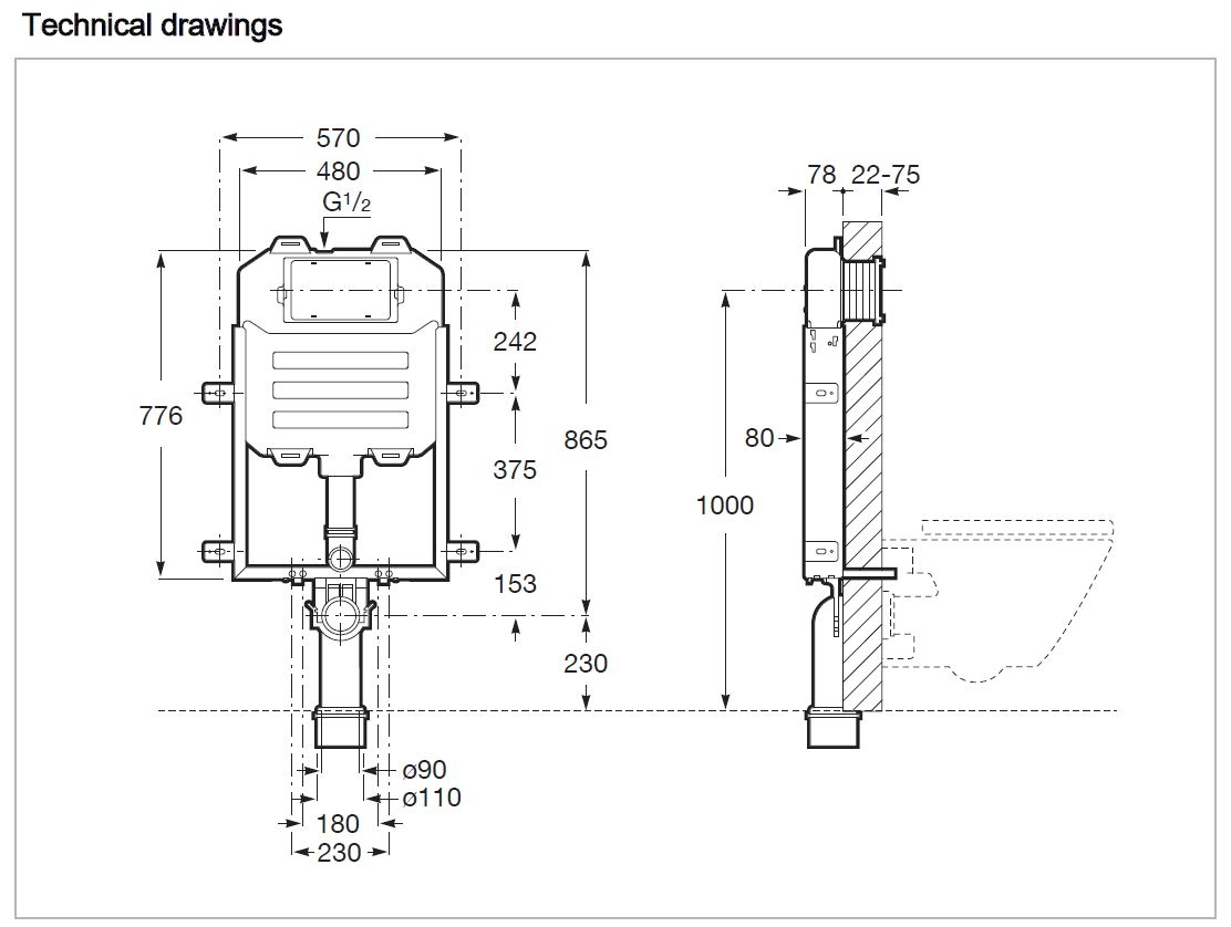 890080120 Technical Drawing